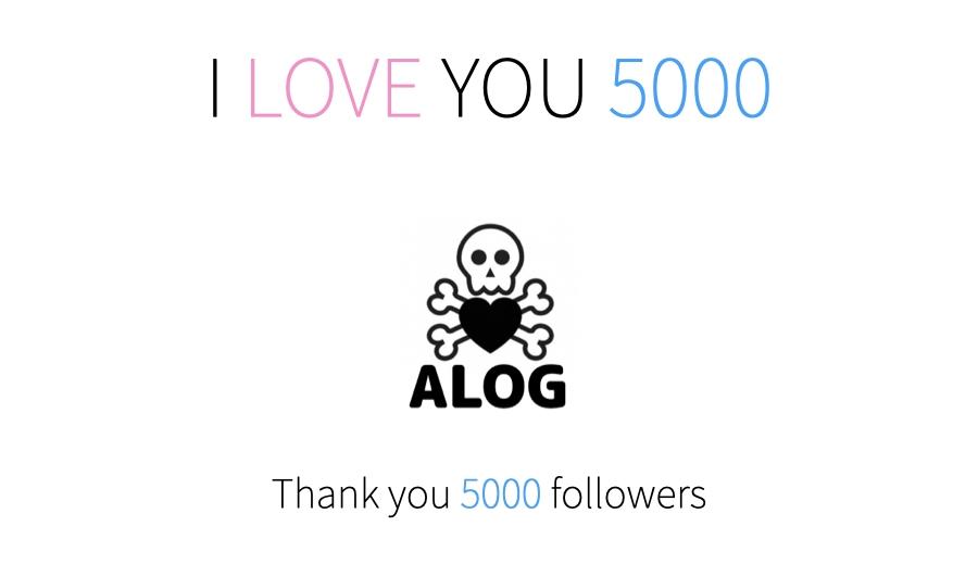 Thanks Tumblr follower 5000